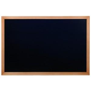 Kreidetafel Elegant, 80x60cm, Rahmen Teak, Gastrotafel
