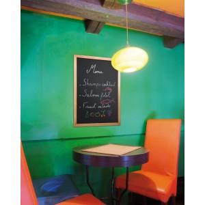 Kreidetafel Elegant, 40x60cm, Rahmen Teak, Gastro