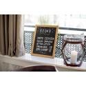 Schreibtafel, Gastrotafel, Menütafel, 30x40cm, Teak
