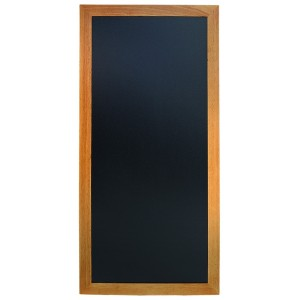 Kreidetafel XL, 120x56cm, Rahmen Teak, wetterfest, Schiefertafel