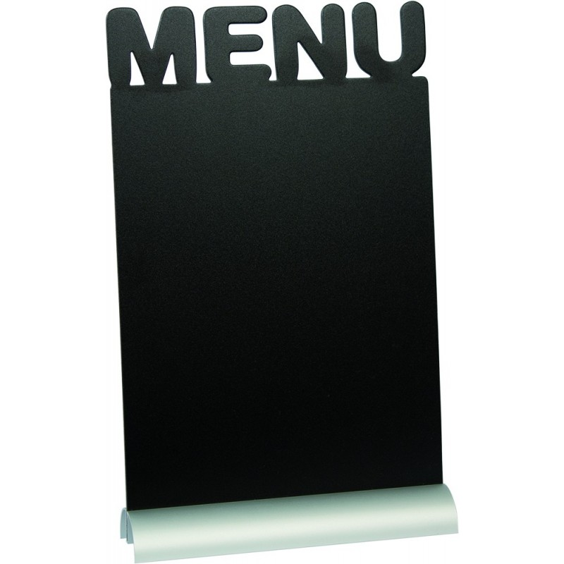 "Tisch-Kreidetafel, ""MENÜ"", A4, Aluminiumsockel"