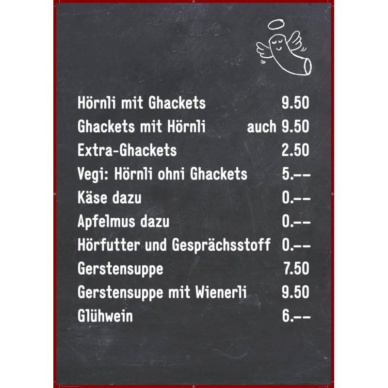 Gastrotafel bedruckt mit Angebot oder Logo, 90x60cm Menütafel