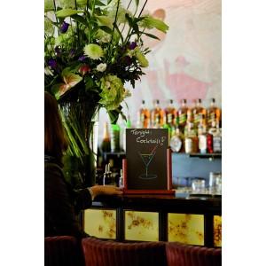 Tischschild, klassisch, 28x32cm gross , Holzrahmen Mahagoni