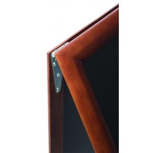 Kundenstopper Holz, 120x70cm gross, Securit©Deluxe, wetterfest, A0