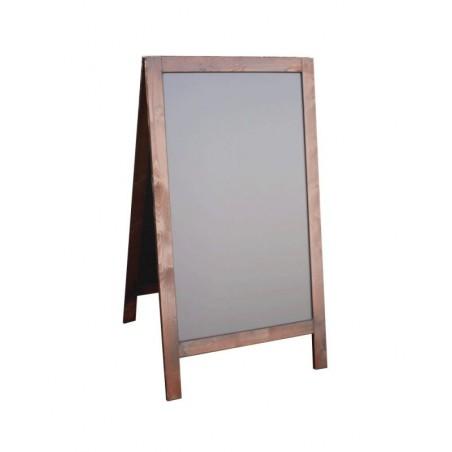 Kundenstopper Holz, 120x70cm, Kiefer Echtholz, braun lasiert, extrem wetterfest, A0