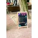 Kundenstopper Holz, 140x70cm gross, 19 kg, Hellbraun, wetterfest für Aussenbereich geeignet