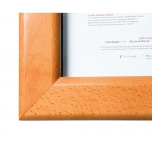 Schaukasten Holz, 70x53cm, beleuchtet, Teak, Menükasten