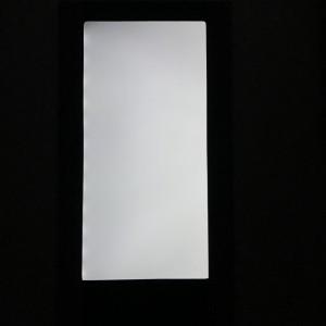 LED Menükarte, einseitig beleuchtet, Leder, schwarz, A4
