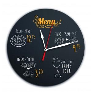 Tagesplaner Kreidetafel-Uhr - beschriftbar, inkl. 1 Kreidestift