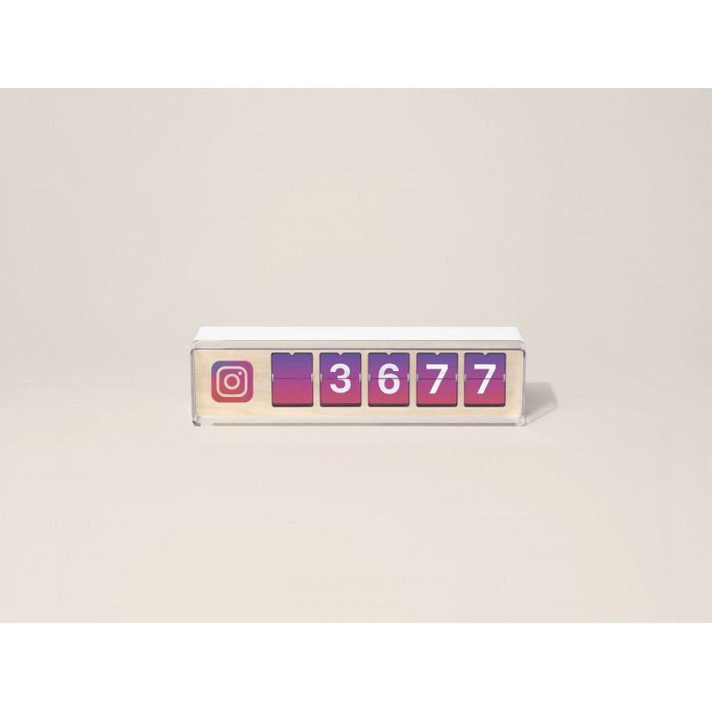 Real time instagram follower counter von Smiirl