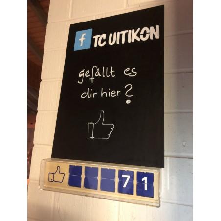 Social Media Counter mit passender Kreidetafel