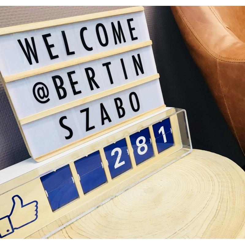 Social Media Counter und Buchstabenleiste