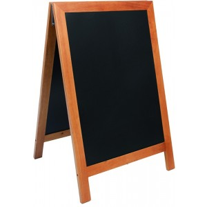 Kundenstopper Holz, 85x55cm, 9kg, wetterfest, A1, Deluxe