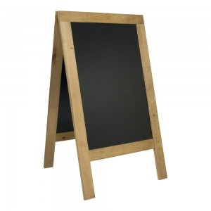 Kundenstopper Holz, 135x70cm, 16 kg, Naturholz