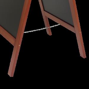 Kundenstopper Holz 135x70cm, mahagoni
