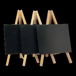 Tischschild, Tisch-Kreidetafel auf Staffelei