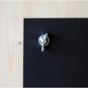 Exklusiver Kundenstopper Holz aus der Schweiz mit HPL-Kreidetafel
